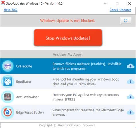 How To Block Updates On Windows 10 Using Stopupdates10