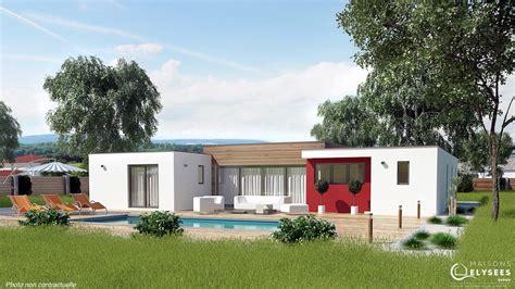 Modele Maison Moderne efficium villa moderne de plain pied
