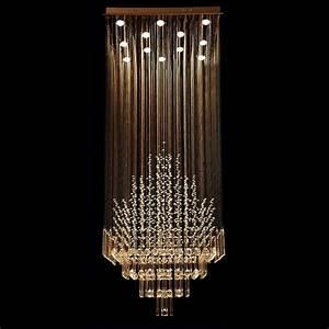 Byb? modern chandelier rain drop lighting square crystal
