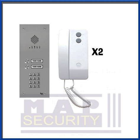 bpt vandal resistant 2 way audio entry keypad panel kit with 2xhandset vrwkag2 ebay