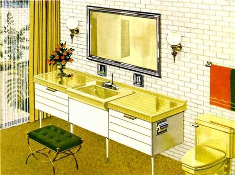 Retro 60s Bathroom Decor by 1960 S Kitchens Bathrooms More Retro Renovation