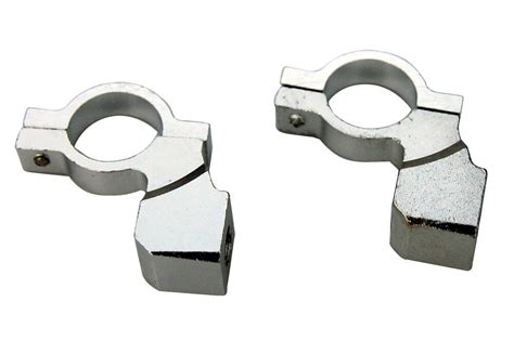 Chrome Motorcycle Handlebar Mirror Mount 10mm 7/8