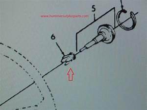 Hmmwv M998 Jeep M151 Horn Button Switch Retainer 8754125