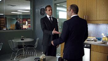 harvey specter hug gif  suits find share  giphy