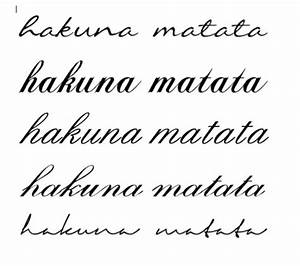 posts fonts and hakuna matata on pinterest With hakuna matata lettering