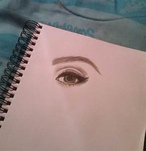 Eye. Makeup. Eyebrow. Art. Drawing. Drawn eye. Blue eyes ...