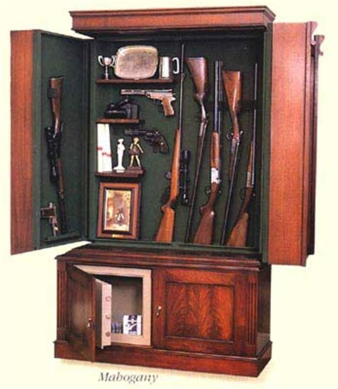hidden gun cabinet  plain sight