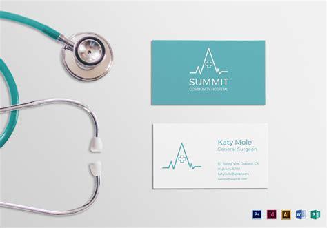 medical business card design template  psd word