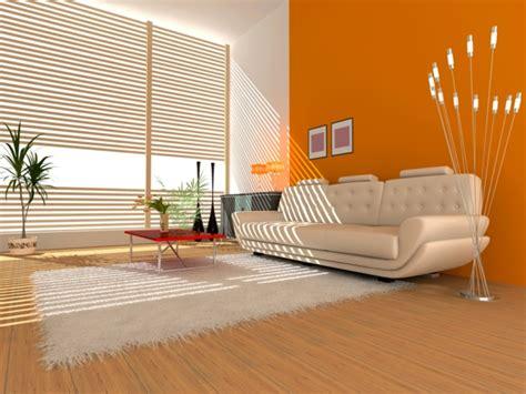 Einrichtungsideen Farbgestaltung by Moderne Orange Farbgestaltung Im Wohnzimmer Archzine Net