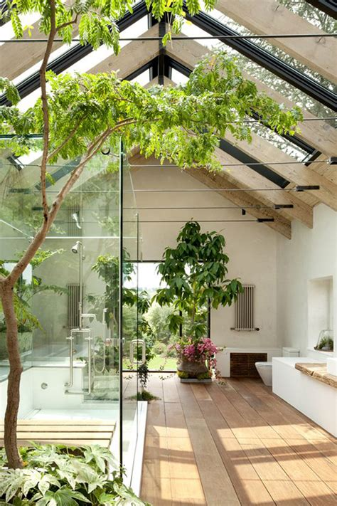 beautiful bathroom with garden ideas