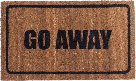 custom size welcome mats go away black design coco mats coco mats n 39 more