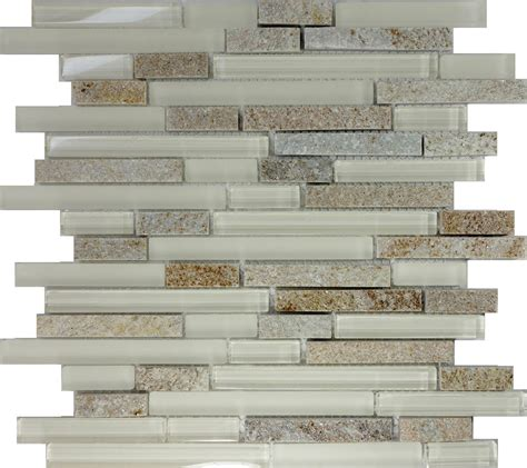 glass wall tiles for kitchens 1sf beige glass linear mosaic tile 6866
