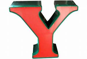 Industrial 3D Neon Sign Letter Y Omero Home