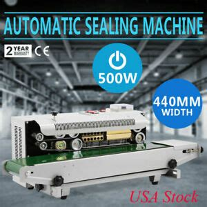 auto horizontal continuous plastic bag band sealing sealer machine ups  day  ebay