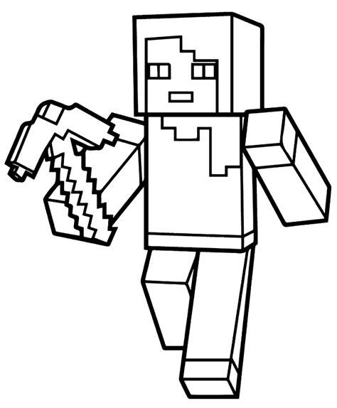 disegni da colorare minecraft scp disegno di villico di minecraft da colorare