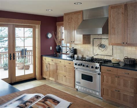 kitchen  french doors  deck traditional kitchen