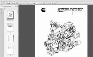 Cummins Isc  Qsc8 3  Isl And Qsl9 Engines Shop Service