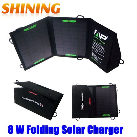 8w solar powered sun light charger with usb 5v output