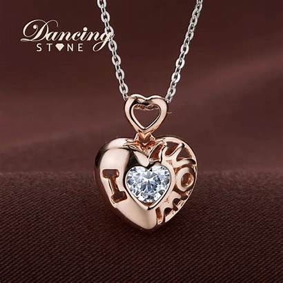 Heart Necklace Cz Necklaces Sterling Mom Jewelry