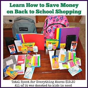 Learn How to Save Money on Back to School Shopping and ...