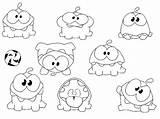 Cut Rope Coloring Nom Om Pages Coloriage Stories Da Printable Noms Num Para Colorare Sketch Coloriages Malvorlagen Disegni Sketchite Template sketch template