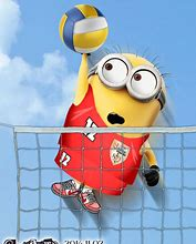Bilderesultat for minions volleyball