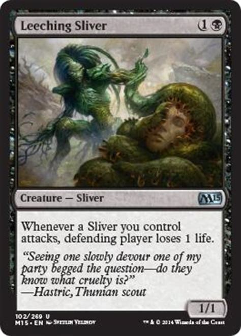 Sliver Deck Modern M15 by Leeching Sliver From M15 Spoiler