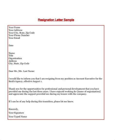 sample formal letter layout  examples  word