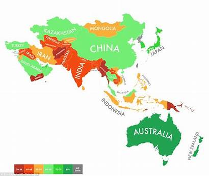 Country Worst Asia Countries Climate Different Map