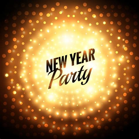 New Year Party Greeting Card Vector  Free Download
