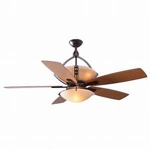 Hampton bay miramar quot ceiling fan weathered bronze dome