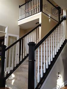 Stairs, Stair Makeover White Stair Railing Adastra