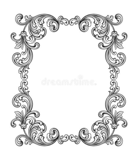 Baroque Powerpoint Template Free by Vintage Baroque Victorian Frame Border Monogram Floral