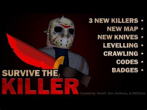 Code success, you received the friday 13 knife or rusty dagger; ALL *NEW* Survive The Killer Codes! - YouTube