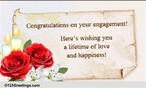 wishes   engagement  engagement ecards greeting cards