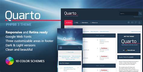 Quarto —phpbb3 Responsive & Retina Ready Theme By