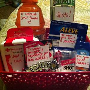 Homemade 21st Birthday Gift Basket Gift Ftempo
