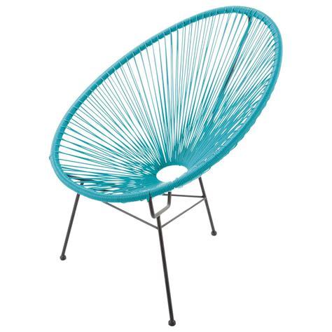 fauteuil de jardin rond turquoise copacabana maisons du