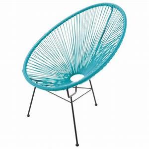 Chaise Jardin Maison Du Monde : fauteuil de jardin rond turquoise copacabana maisons du monde ~ Melissatoandfro.com Idées de Décoration