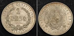 1 Peso 1870 Uruguay Silver | Prices & Values KM-17