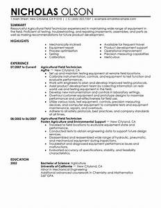 best field technician resume example livecareer With sample resume for agriculture graduates