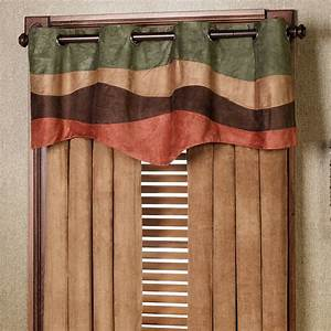 cadence faux suede grommet window valance With grommet curtains with valance