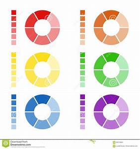 Set Of Circular Spectrum Wheels  Collection Of Rounded