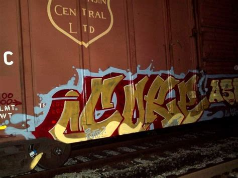 Train Artwork by Art Crimes Trains 234 North American Freights
