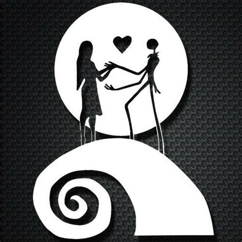 The best quality design for you, christmas svg, vector files. Jack and Sally Moon Nightmare Before Christmas Car Window ...