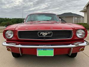 1966 Ford Mustang Sportscar Red Rwd Manual Deluxe
