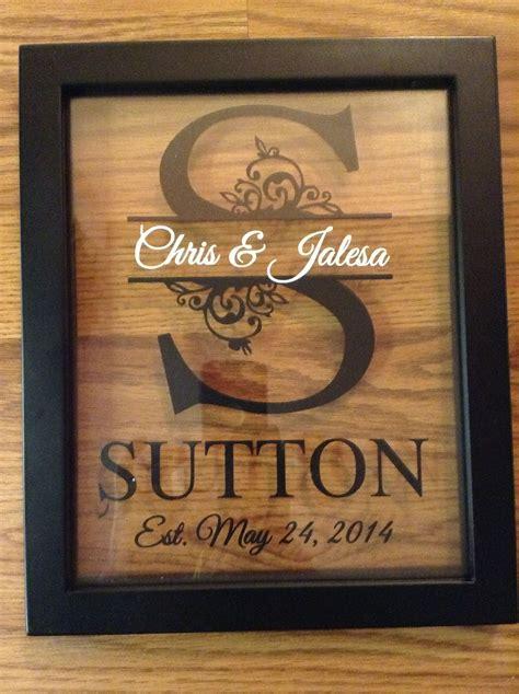 personalized   floating frame  cricut wedding cricut crafts