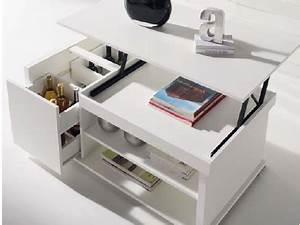 Table Basse Multifonction : table basse dinette range bouteilles ~ Premium-room.com Idées de Décoration
