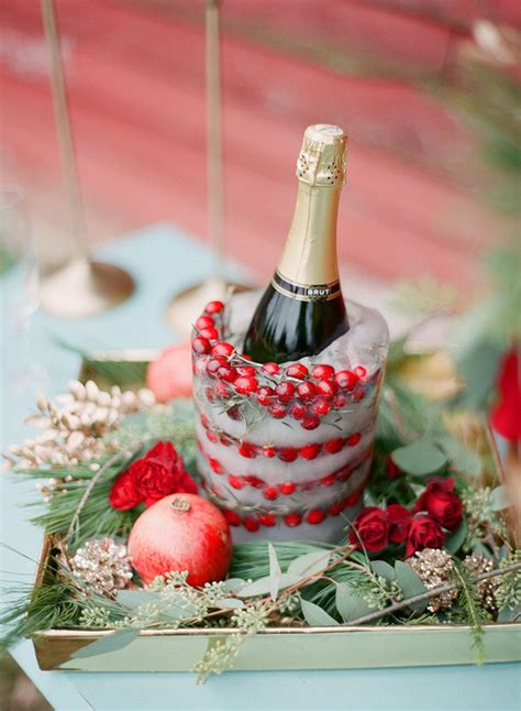 cranberry champagne cocktail wedding party ideas