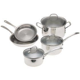 calphalon tri ply stainless  piece cookware set review cookware set calphalon stainless
